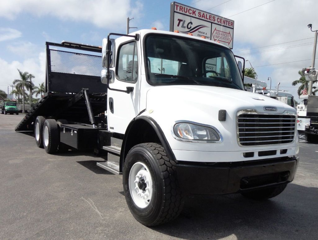 2012 Freightliner BUSINESS CLASS M2 28FT 15 TON ROLLBACK INDUSTRIAL JERRDAN.. TANDEM AXLE.. - 19177978 - 1