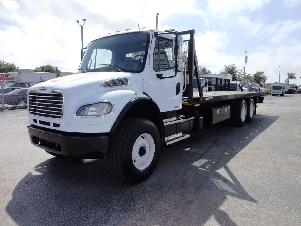 2012 Freightliner BUSINESS CLASS M2 28FT 15 TON ROLLBACK INDUSTRIAL JERRDAN.. TANDEM AXLE.. - 19177978 - 25