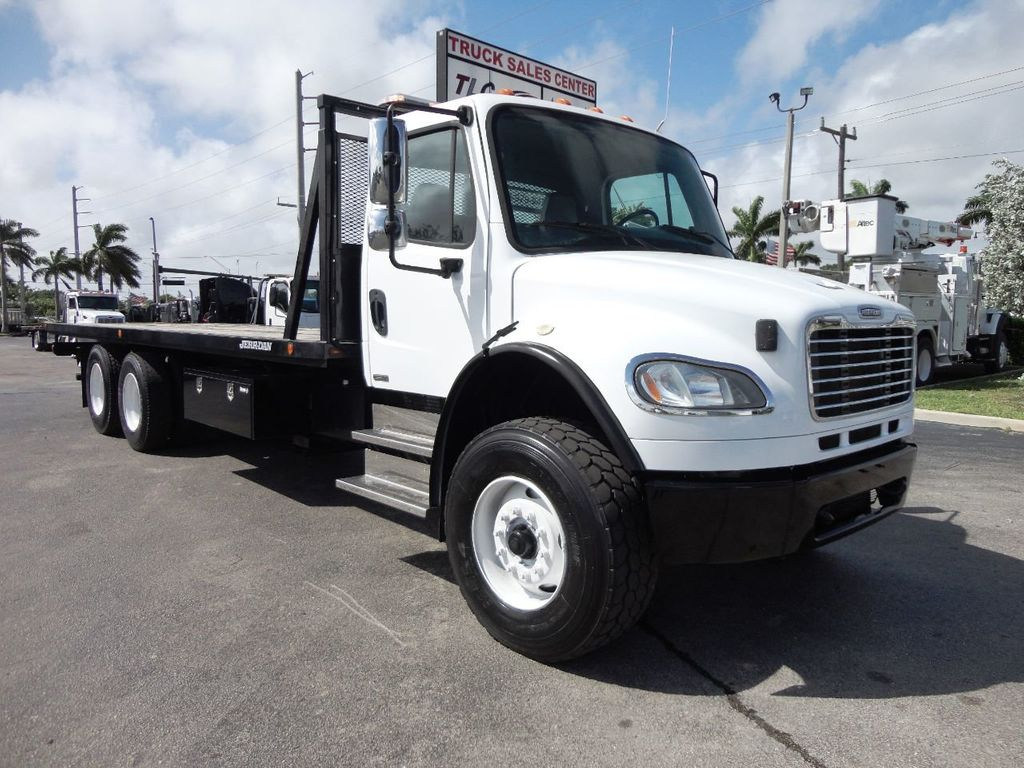 2012 Freightliner BUSINESS CLASS M2 28FT 15 TON ROLLBACK INDUSTRIAL JERRDAN.. TANDEM AXLE.. - 19177978 - 26