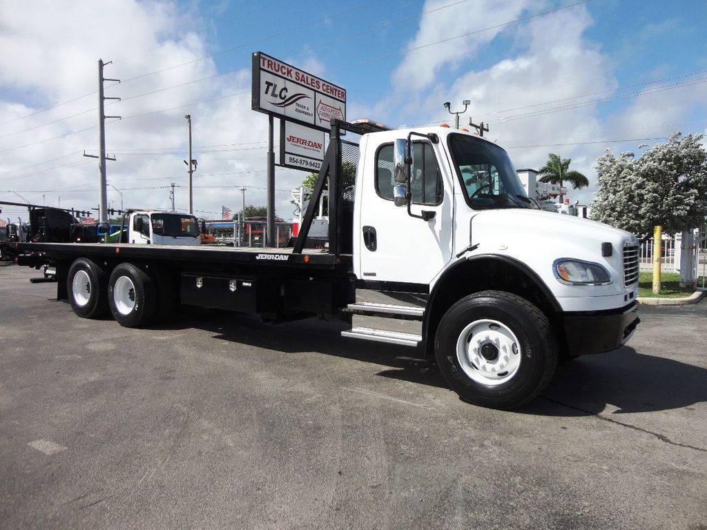 2012 Freightliner BUSINESS CLASS M2 28FT 15 TON ROLLBACK INDUSTRIAL JERRDAN.. TANDEM AXLE.. - 19177978 - 27