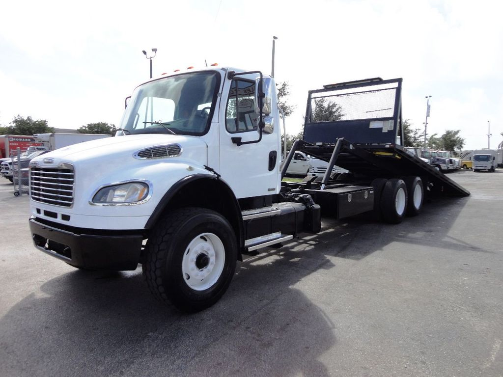2012 Freightliner BUSINESS CLASS M2 28FT 15 TON ROLLBACK INDUSTRIAL JERRDAN.. TANDEM AXLE.. - 19177978 - 3