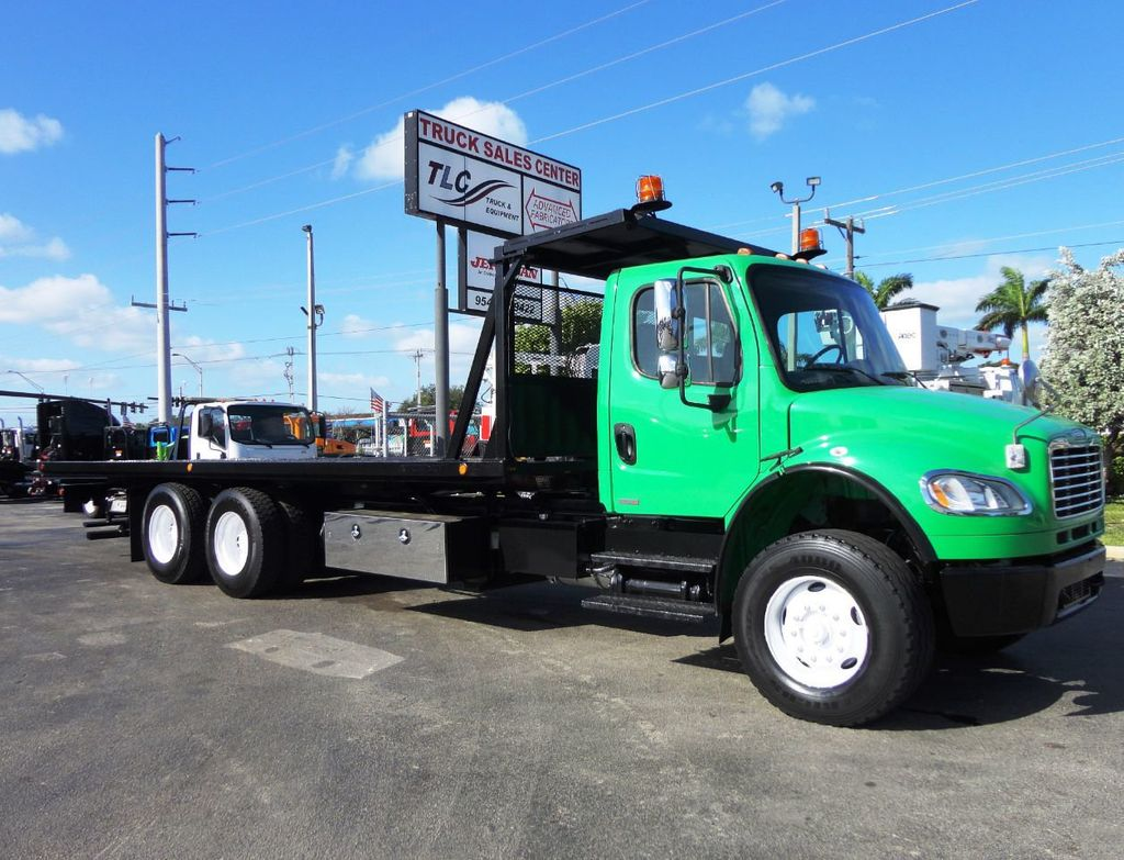 2012 Freightliner BUSINESS CLASS M2 28FT 15 TON ROLLBACK INDUSTRIAL JERRDAN.. TANDEM AXLE.. - 19381720 - 0