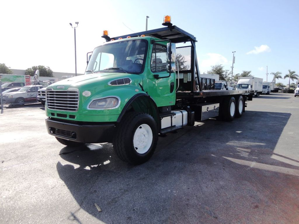 2012 Freightliner BUSINESS CLASS M2 28FT 15 TON ROLLBACK INDUSTRIAL JERRDAN.. TANDEM AXLE.. - 19381720 - 10