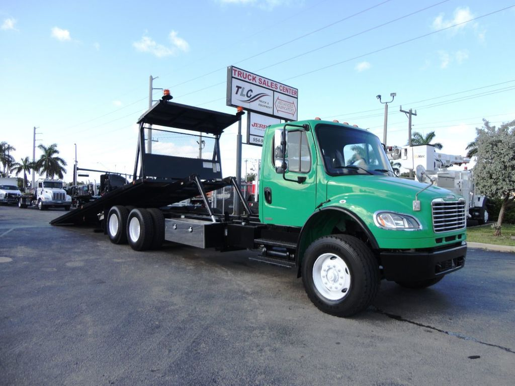 2012 Freightliner BUSINESS CLASS M2 28FT 15 TON ROLLBACK INDUSTRIAL JERRDAN.. TANDEM AXLE.. - 19381720 - 34