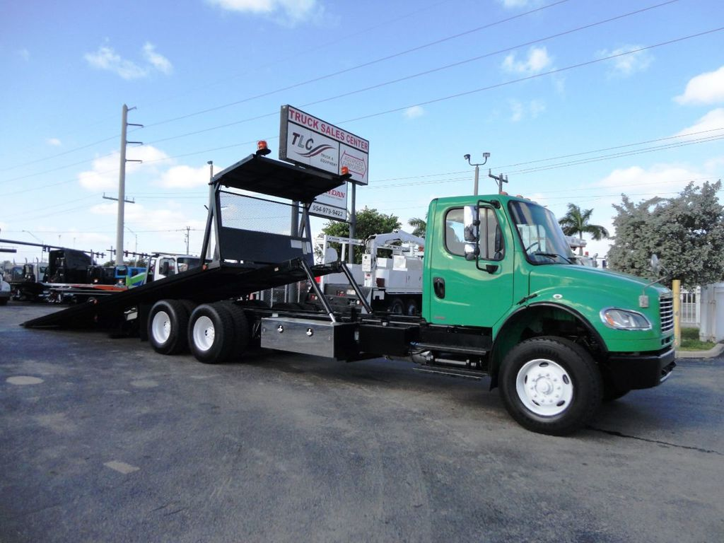 2012 Freightliner BUSINESS CLASS M2 28FT 15 TON ROLLBACK INDUSTRIAL JERRDAN.. TANDEM AXLE.. - 19381720 - 35
