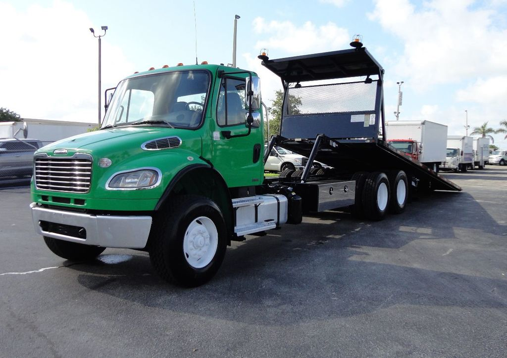 2012 Freightliner BUSINESS CLASS M2 28FT 15 TON ROLLBACK INDUSTRIAL JERRDAN.. TANDEM AXLE.. - 17742668 - 0