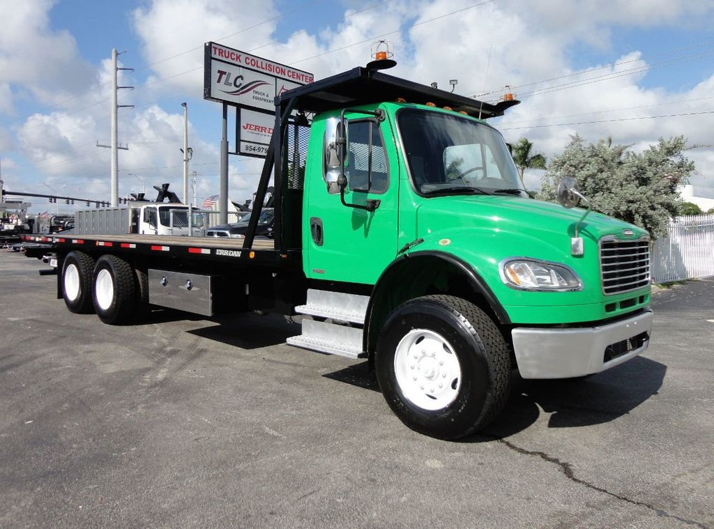 2012 Freightliner BUSINESS CLASS M2 28FT 15 TON ROLLBACK INDUSTRIAL JERRDAN.. TANDEM AXLE.. - 17742668 - 38