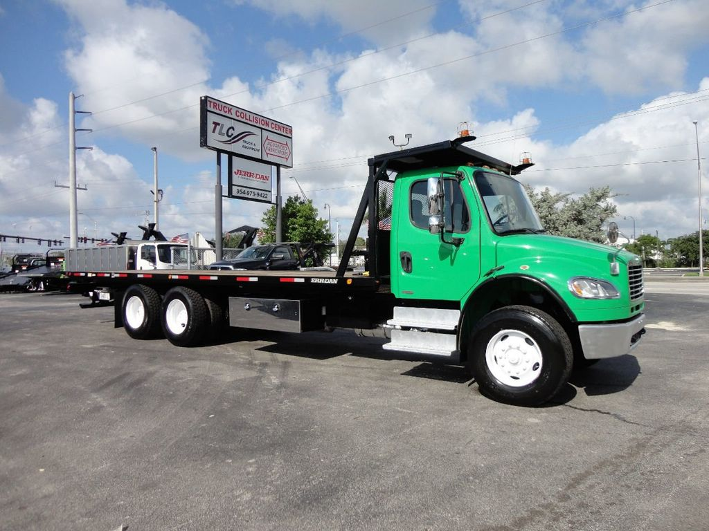 2012 Freightliner BUSINESS CLASS M2 28FT 15 TON ROLLBACK INDUSTRIAL JERRDAN.. TANDEM AXLE.. - 17742668 - 39