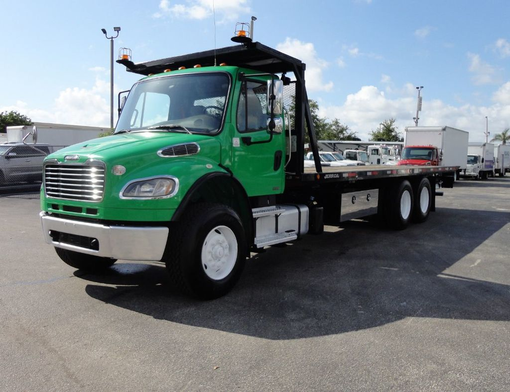 2012 Freightliner BUSINESS CLASS M2 28FT 15 TON ROLLBACK INDUSTRIAL JERRDAN.. TANDEM AXLE.. - 17742668 - 48