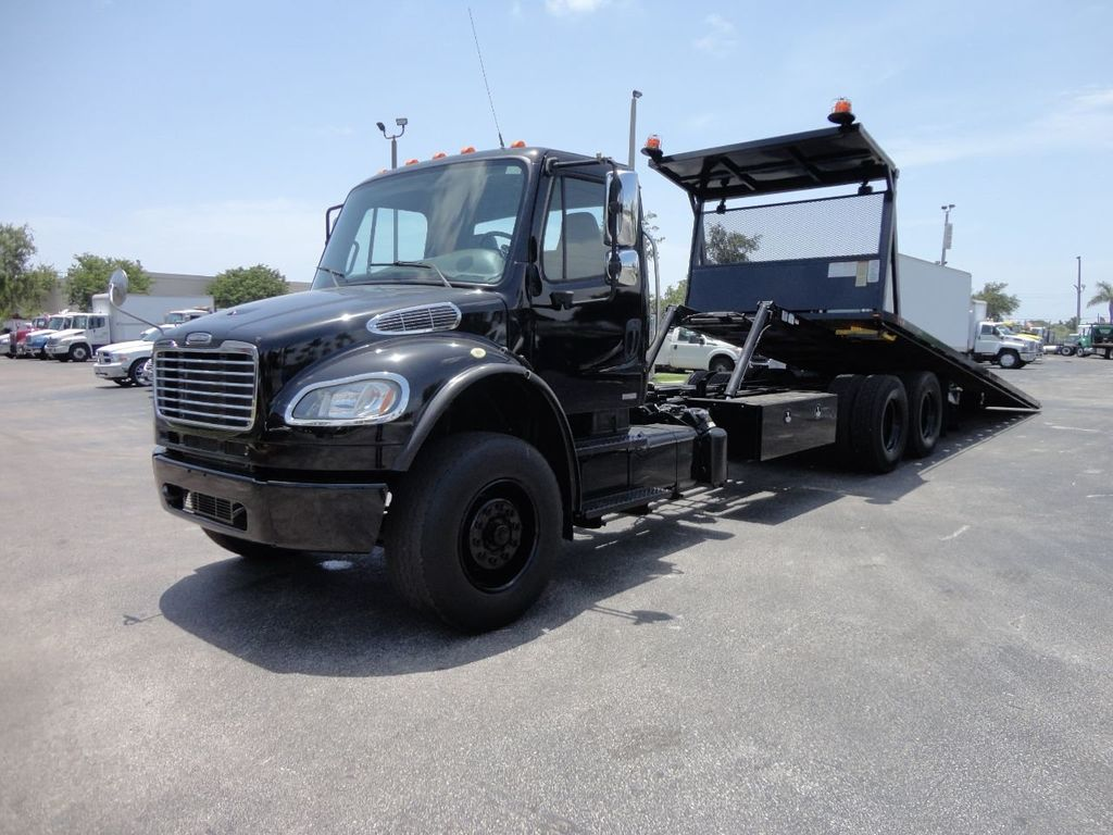 2012 Freightliner BUSINESS CLASS M2 ROLLBACK 28FT.15 TON INDUSTRIAL JERRDAN.. TANDEM AXLE.. - 17857325 - 4