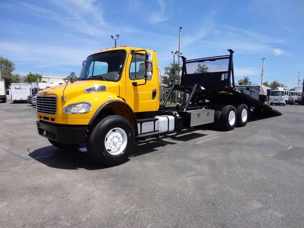 2012 Freightliner BUSINESS CLASS M2 TANDEM AXLE.. JERR-DAN 28FT INDUSTRIAL 15 TON ROLLBACK - 16601672 - 0
