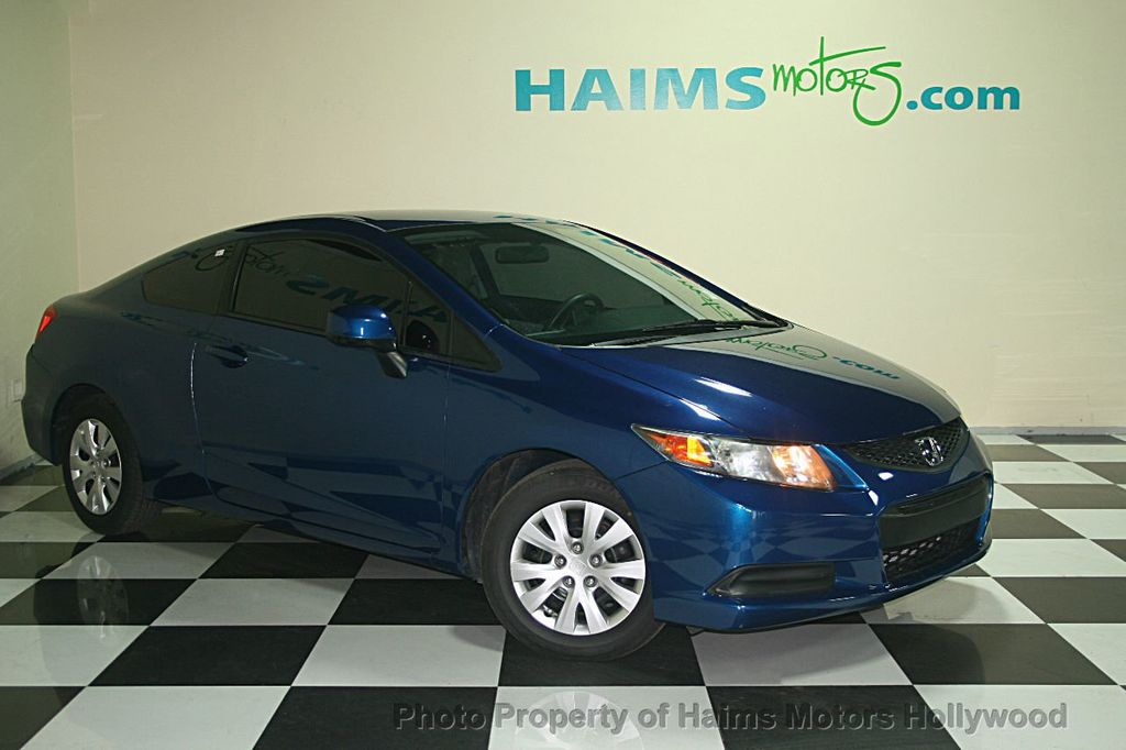 2012 used honda civic coupe 2dr manual lx at haims motors serving fort lauderdale hollywood. Black Bedroom Furniture Sets. Home Design Ideas