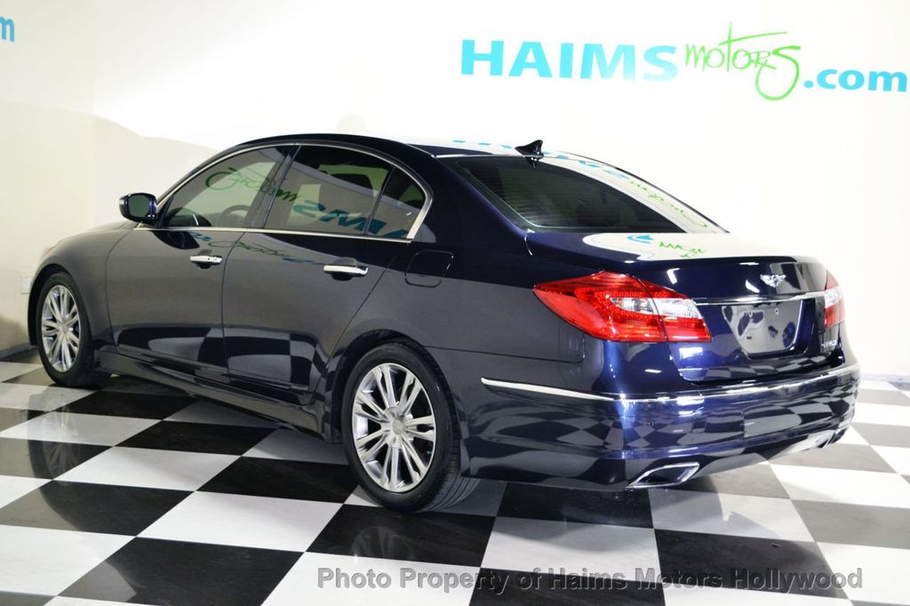 2012 used hyundai genesis 4dr sedan v6 3 8l at haims motors ft lauderdale serving lauderdale. Black Bedroom Furniture Sets. Home Design Ideas