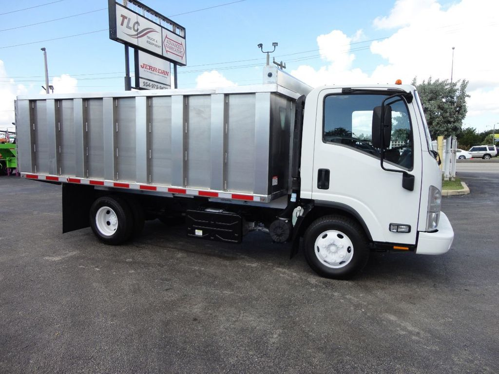 2012 Isuzu NPR 14FT ALUM TRASH DUMP TRUCK...NEW AD FAB DUMP BODY. - 18113607 - 0
