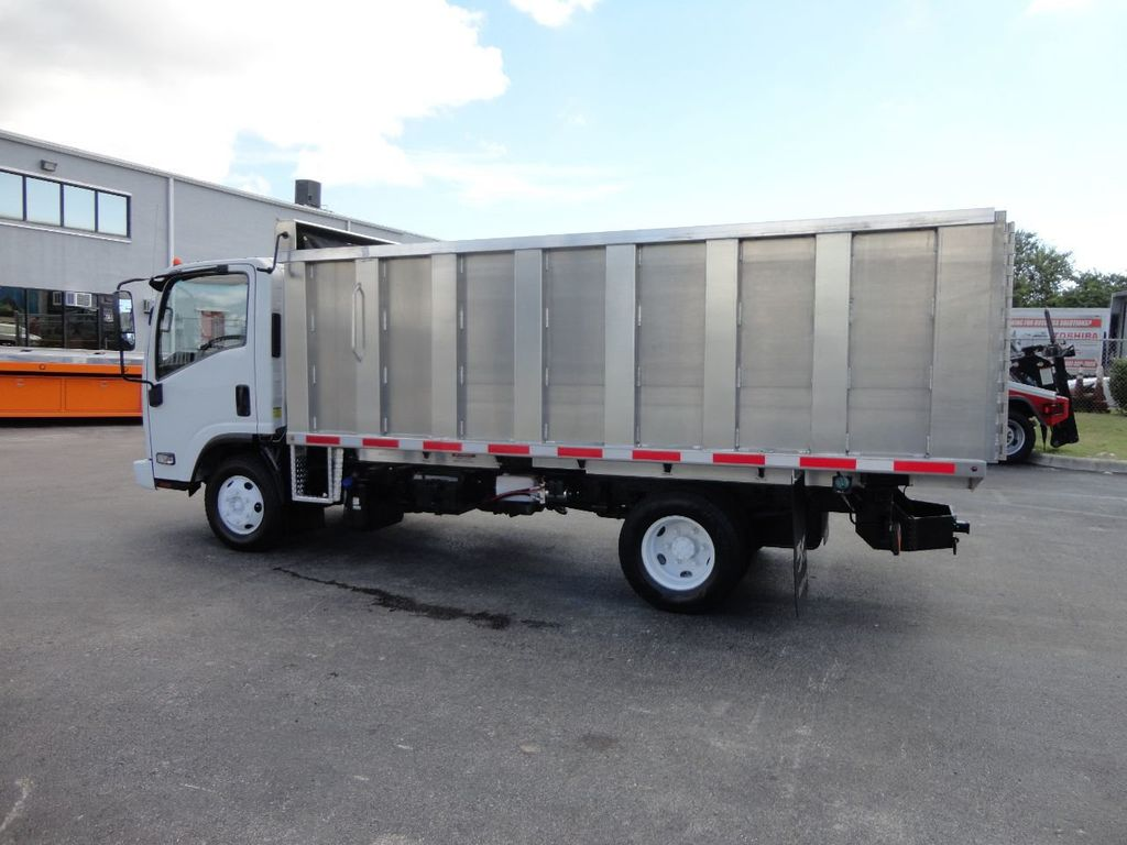 2012 Isuzu NPR 14FT ALUM TRASH DUMP TRUCK...NEW AD FAB DUMP BODY. - 18113607 - 10