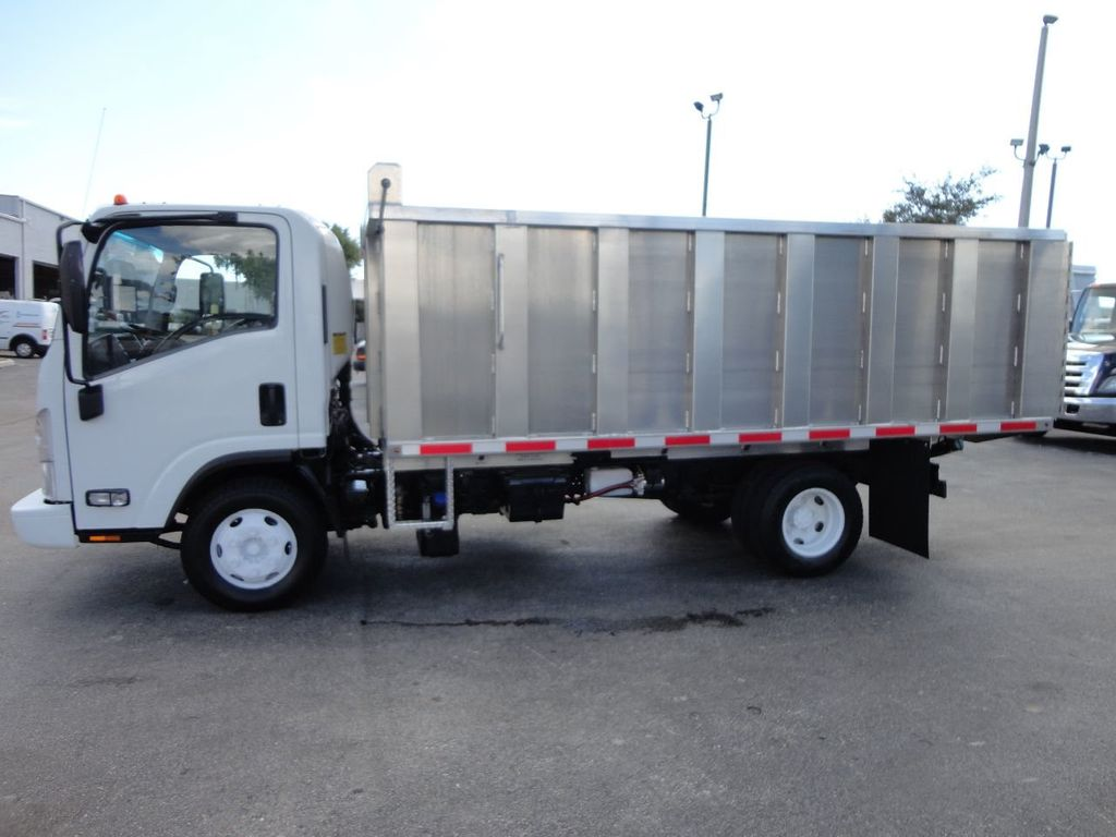 2012 Isuzu NPR 14FT ALUM TRASH DUMP TRUCK...NEW AD FAB DUMP BODY. - 18113607 - 11