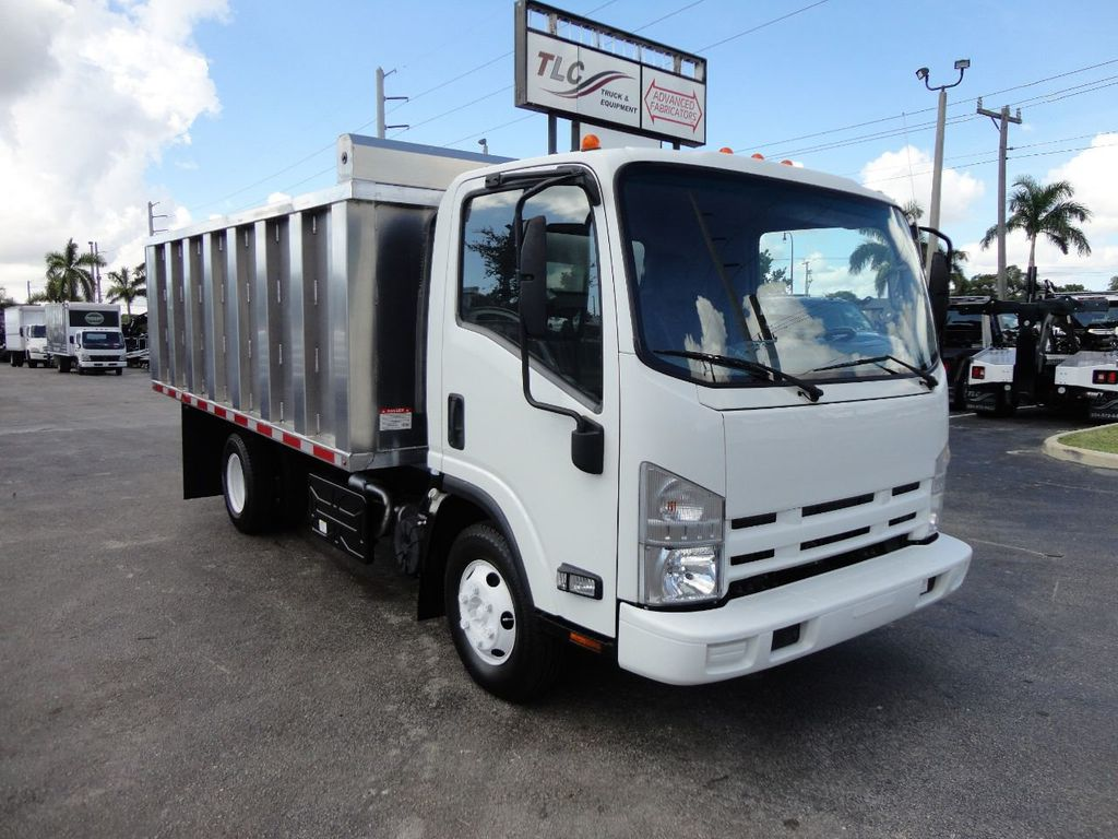 2012 Isuzu NPR 14FT ALUM TRASH DUMP TRUCK...NEW AD FAB DUMP BODY. - 18113607 - 1