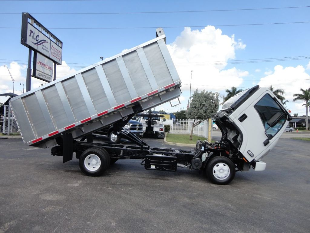 2012 Isuzu NPR 14FT ALUM TRASH DUMP TRUCK...NEW AD FAB DUMP BODY. - 18113607 - 25