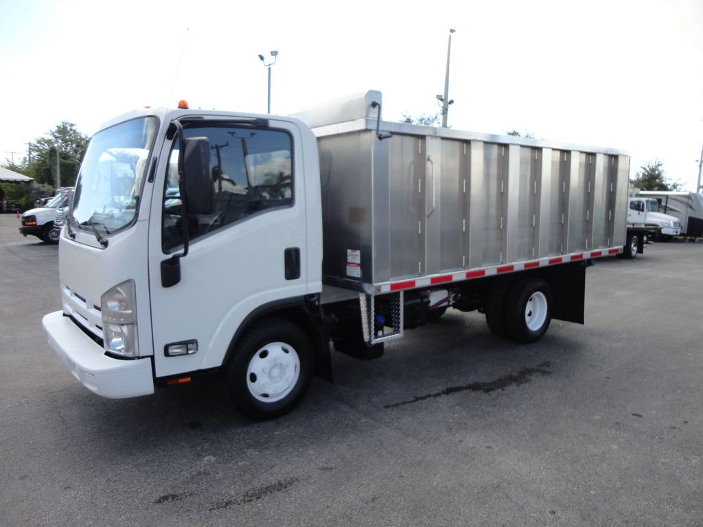 2012 Isuzu NPR 14FT ALUM TRASH DUMP TRUCK...NEW AD FAB DUMP BODY. - 18113607 - 2