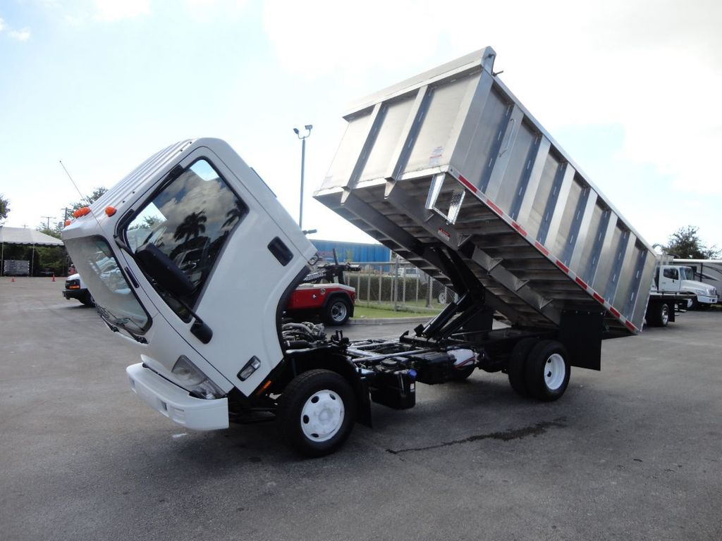 2012 Isuzu NPR 14FT ALUM TRASH DUMP TRUCK...NEW AD FAB DUMP BODY. - 18113607 - 30