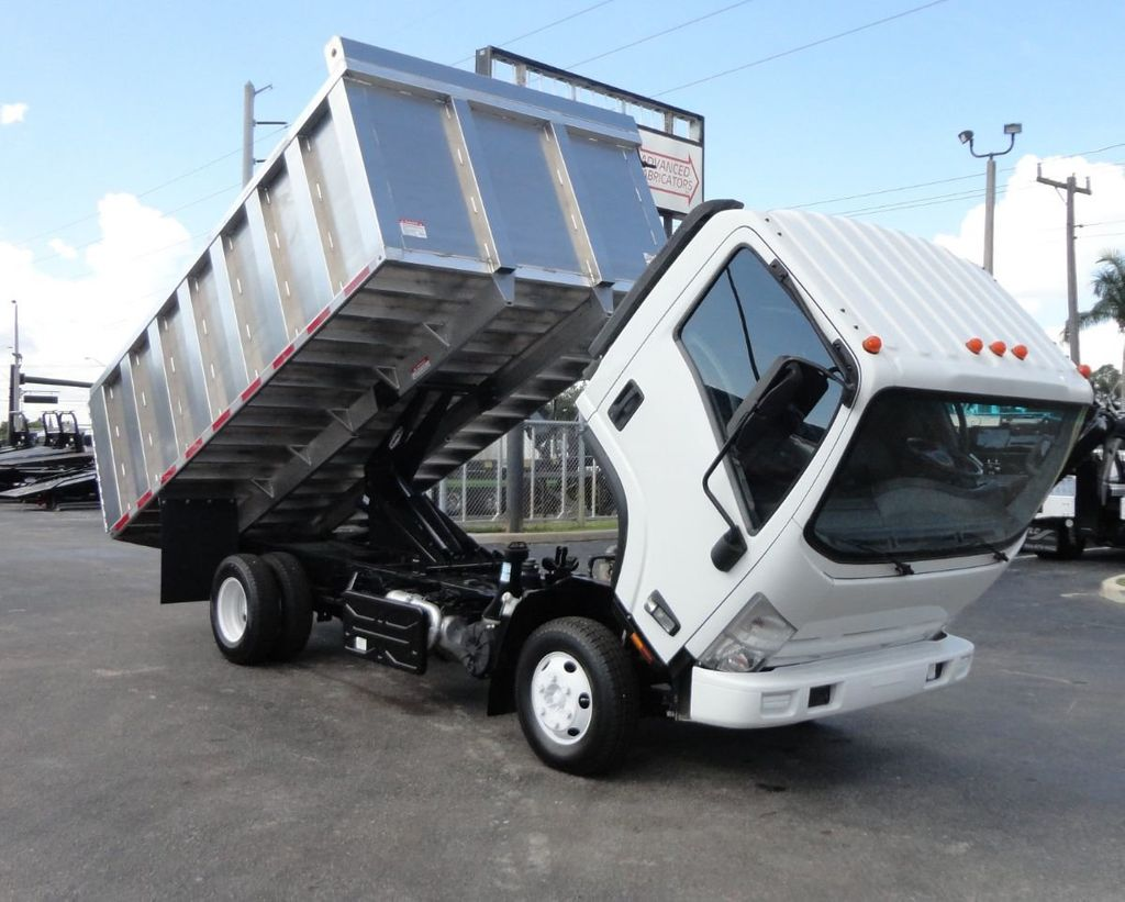2012 Isuzu NPR 14FT ALUM TRASH DUMP TRUCK...NEW AD FAB DUMP BODY. - 18113607 - 31