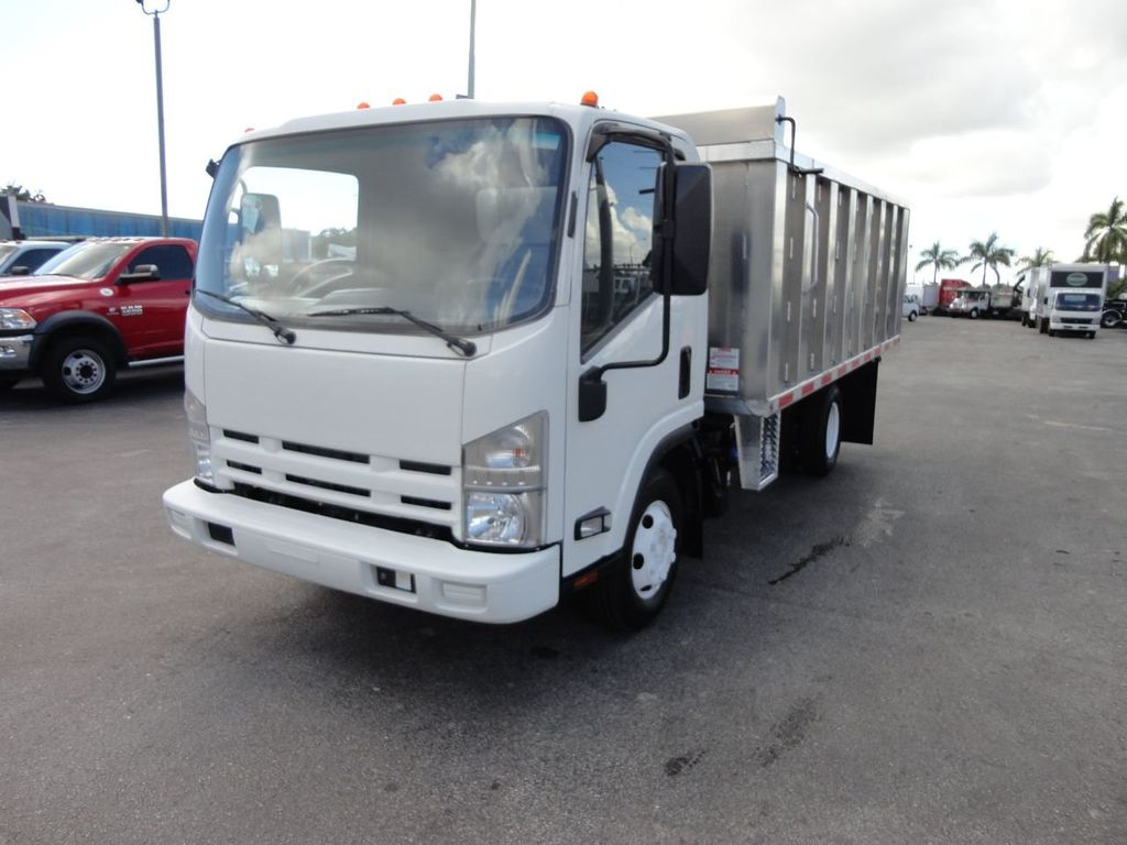 2012 Isuzu NPR 14FT ALUM TRASH DUMP TRUCK...NEW AD FAB DUMP BODY. - 18113607 - 3