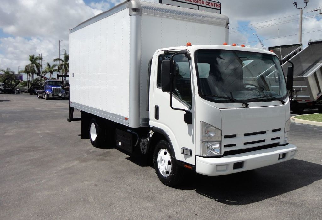 2012 Isuzu NPR 14FT DRY BOX CARGO BOX TRUCK WITH PULL OUT RAMP - 17964349 - 9