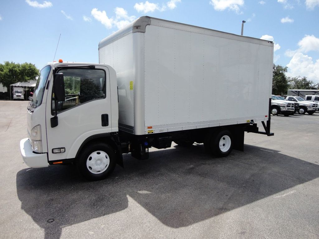 2012 Isuzu NPR 14FT DRY BOX CARGO BOX TRUCK WITH PULL OUT RAMP - 17964349 - 1