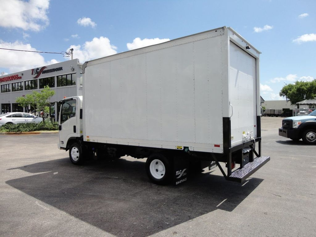 2012 Isuzu NPR 14FT DRY BOX CARGO BOX TRUCK WITH PULL OUT RAMP - 17964349 - 3