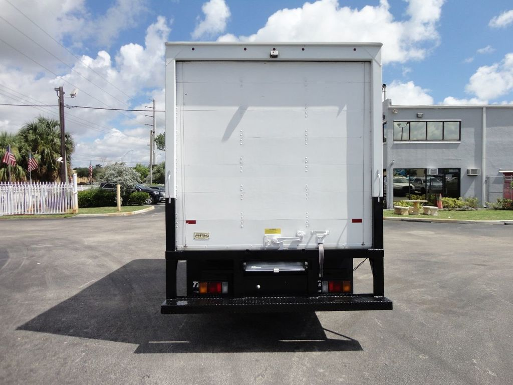 2012 Isuzu NPR 14FT DRY BOX CARGO BOX TRUCK WITH PULL OUT RAMP - 17964349 - 4