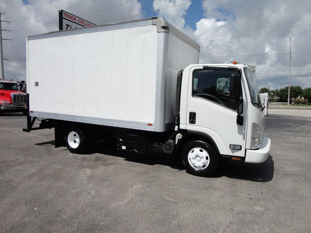 2012 Isuzu NPR 14FT DRY BOX CARGO BOX TRUCK WITH PULL OUT RAMP - 17964349 - 8
