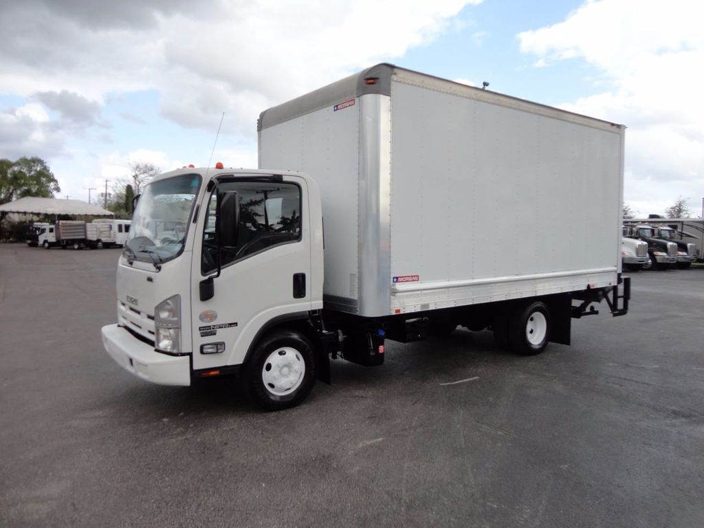 2012 Isuzu NPR HD 16FT DRY BOX.. TUCK UNDER ALUMINUM LIFTGATE - 16156714 - 0