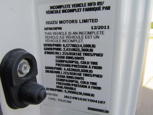 2012 Isuzu NPR HD Box Truck 4x2 - 12502371 - 30