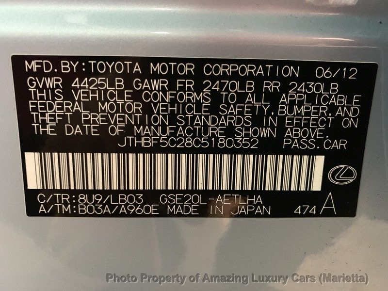 2012 Lexus IS 250 4dr Sport Sedan Automatic RWD - 19494910 - 49