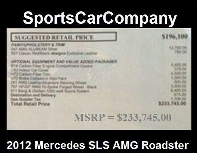 2012 Mercedes-Benz SLS AMG 2dr Roadster SLS AMG - 15792314 - 50