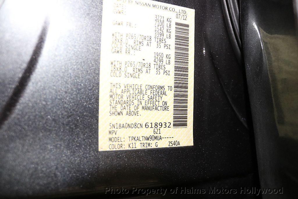 2012 Nissan Armada 2WD 4dr SL - 17843933 - 31