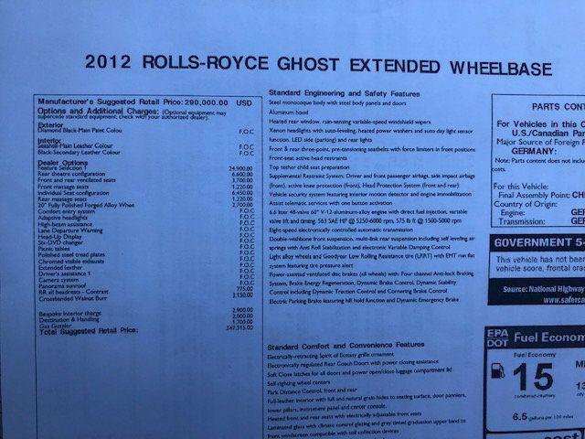 2012 Rolls-Royce Ghost 4dr Sedan EWB - 18546185 - 37