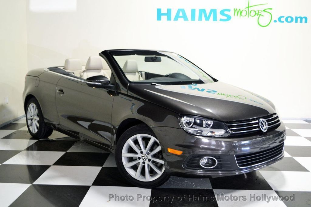 2012 used volkswagen eos 2dr convertible komfort sulev at haims motors serving fort lauderdale. Black Bedroom Furniture Sets. Home Design Ideas