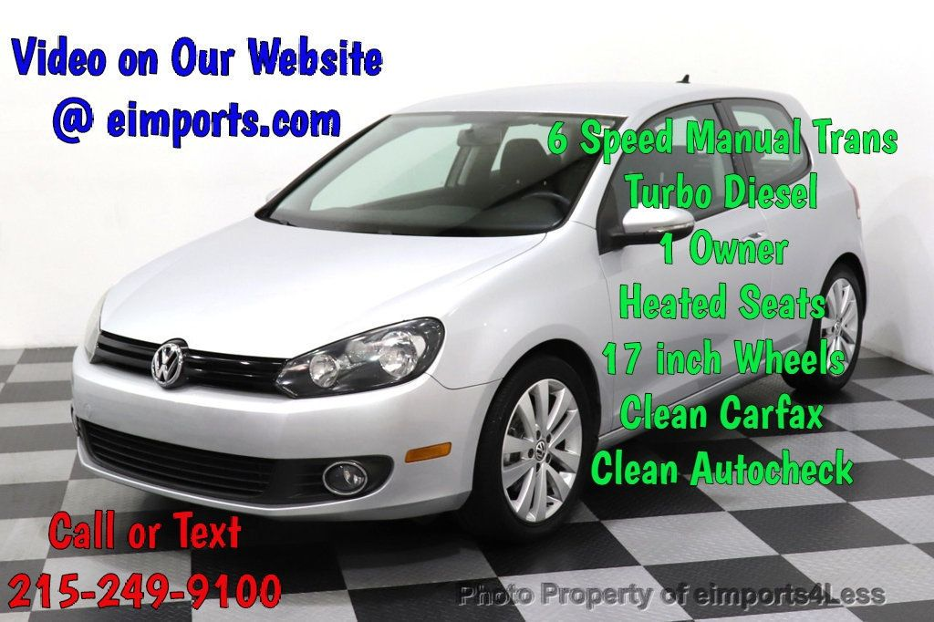 2012 Volkswagen Golf CERTIFIED GOLF TDI 6MT - 18499009 - 0