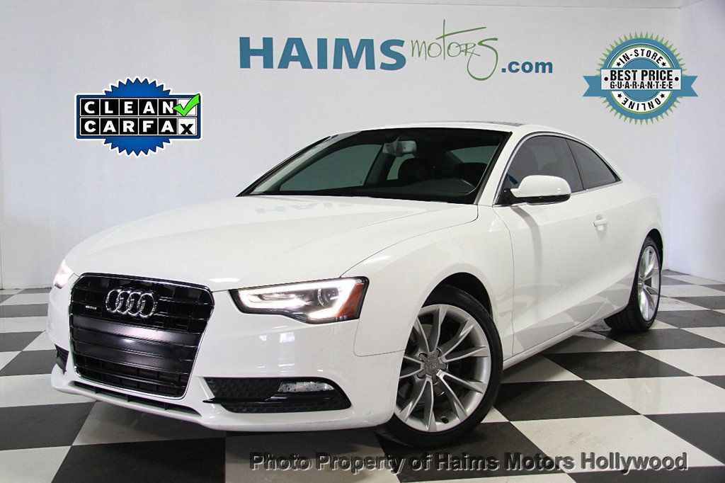 2013 used audi a5 2dr coupe automatic quattro 2 0t premium plus at haims motors serving fort. Black Bedroom Furniture Sets. Home Design Ideas