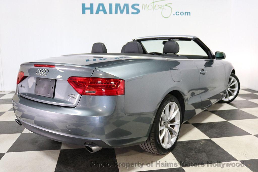 2013 Audi A5 Cabriolet 2dr Cabriolet Auto quattro 2.0T Premium Plus - 18090642 - 4