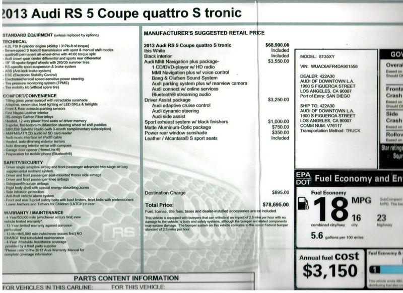 2013 Audi RS 5 RS 5 QUATTRO S TRONIC - 18323412 - 10