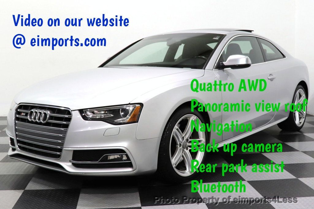 2013 Audi S5 CERTIFIED S5 3.0t QUATTRO AWD PREMIUM PLUS CAM NAV - 18448594 - 0