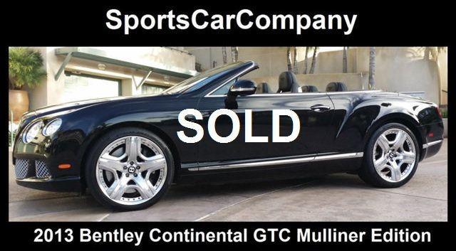 2013 Bentley Continental GT 12 Cylinder Continental GT Mulliner Edition