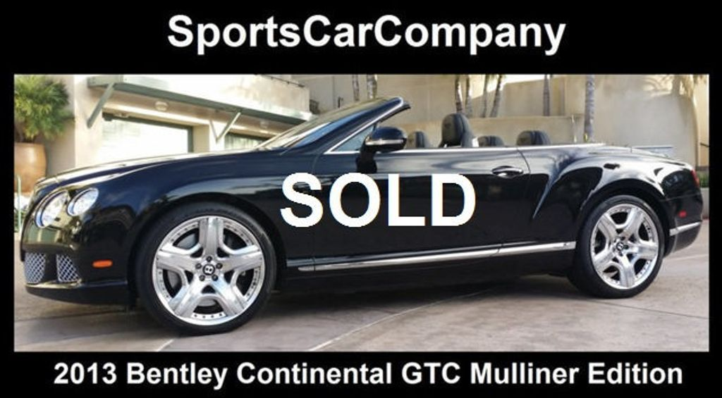 2013 Bentley Continental GTC 12 Cylinder Continental GT Mulliner Edition - 16005324 - 0