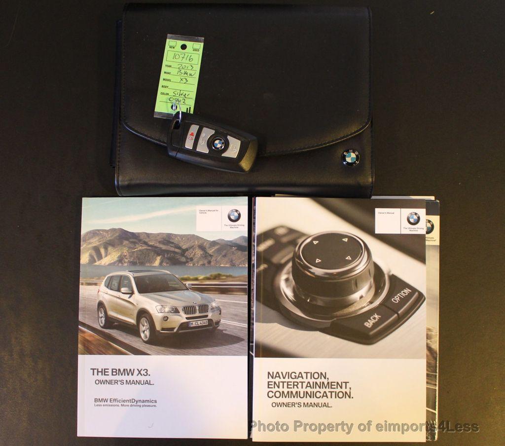 2013 Used BMW X3 CERTIFIED X3 XDrive28i AWD SUV NAVIGATION