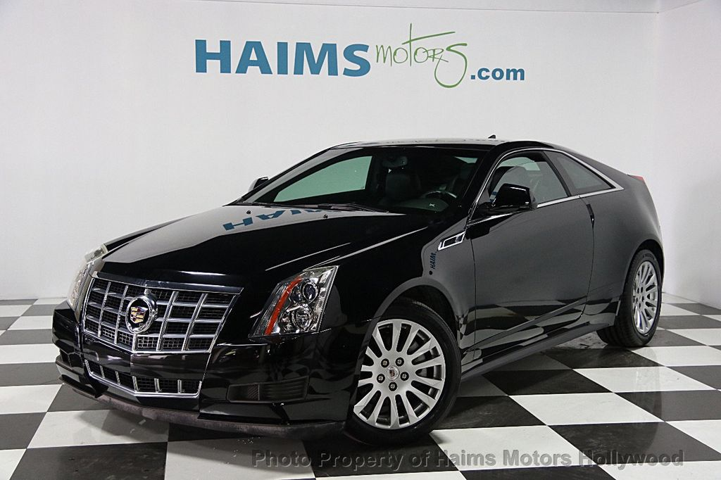 2013 used cadillac cts coupe 2dr coupe premium rwd at haims motors serving fort lauderdale. Black Bedroom Furniture Sets. Home Design Ideas