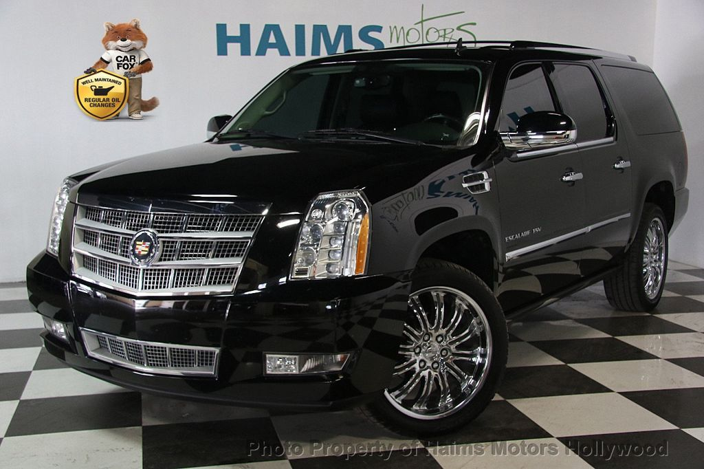 2013 used cadillac escalade esv platinum at haims motors. Black Bedroom Furniture Sets. Home Design Ideas