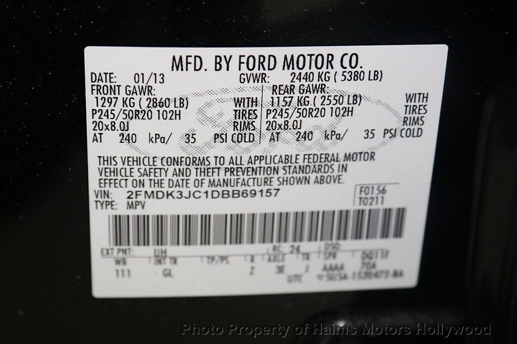 2013 Ford Edge 4dr SEL FWD - 17521486 - 31