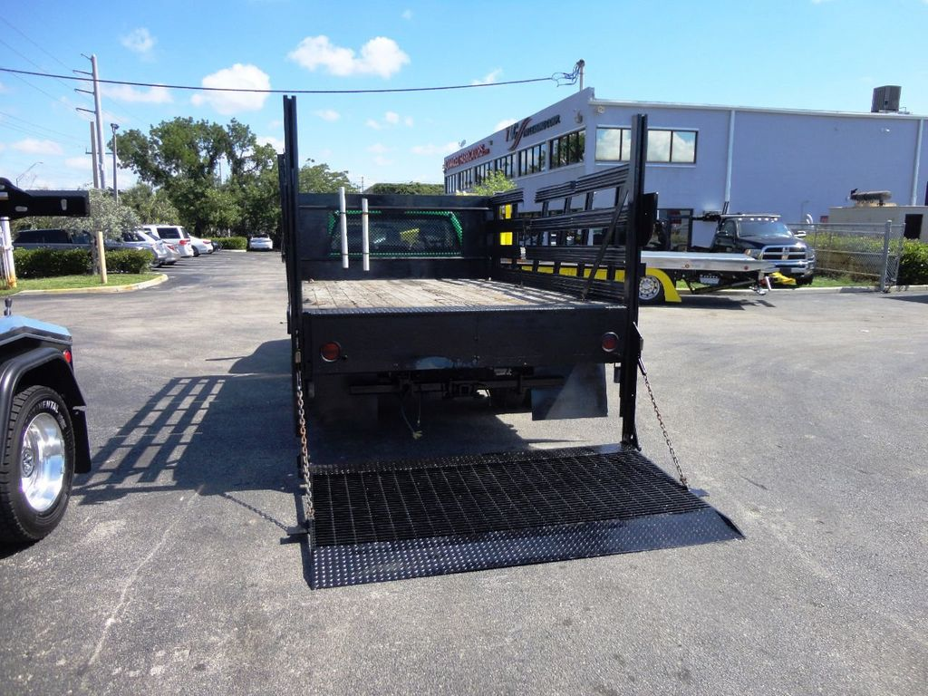 2013 Ford F350 4X4.12FT FLATBED STAKE BED WITH LIFTGATE..STAKE TRUCK. - 18965309 - 9